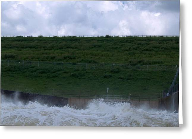 River Flooding Greeting Cards - Flood Gates Open Greeting Card by Robyn Stacey
