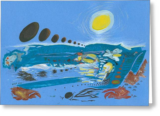 Valuable Drawings Greeting Cards - Flood Scape Greeting Card by Ralf Schulze
