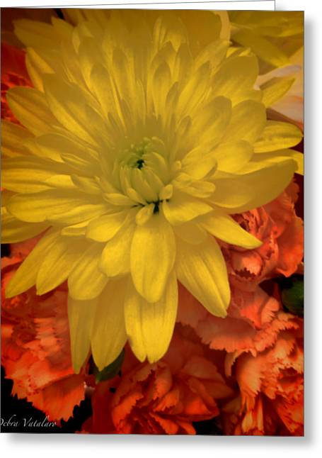 Flower Design Greeting Cards - Floral 1 Greeting Card by Debra     Vatalaro