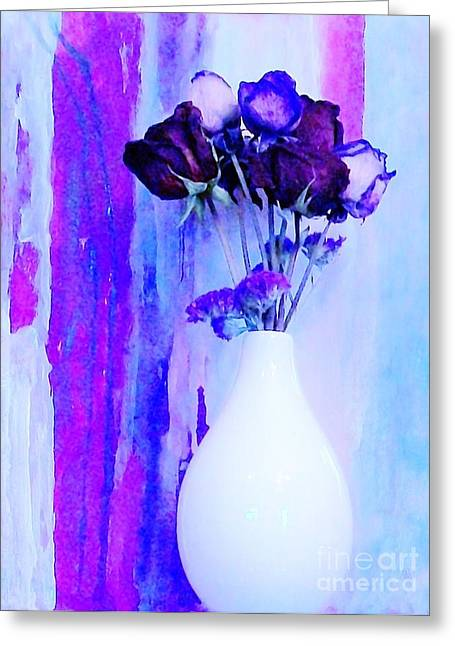 Same Greeting Cards - Floral Abstract Greeting Card by Marsha Heiken