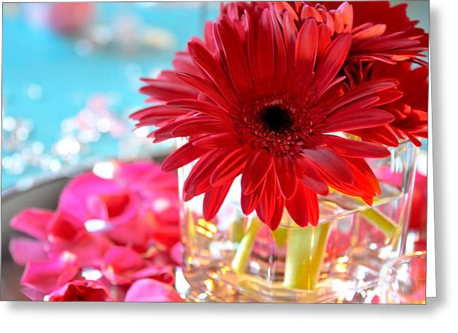 Centerpiece Greeting Cards - Floral centerpiece Greeting Card by Anthony Citro