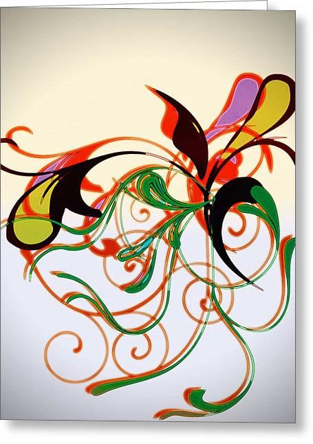Susan Leggett Digital Greeting Cards - Floral Desire Greeting Card by Susan Leggett