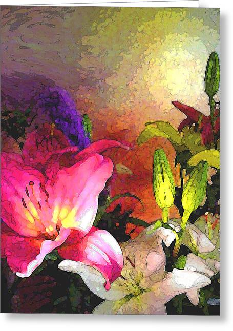 Visionary Artist Greeting Cards - Floral Glory no.2 Greeting Card by George  Page