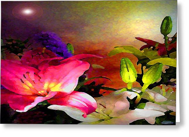 Visionary Artist Greeting Cards - Floral Glory no.4 Greeting Card by George  Page