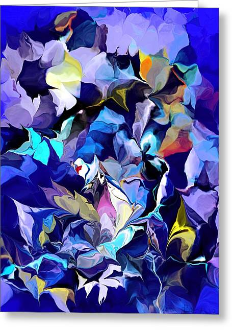 Hallucination Greeting Cards - Floral Hallucinations Greeting Card by David Lane