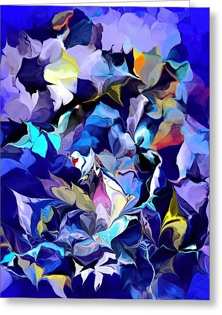 Hallucination Digital Greeting Cards - Floral Hallucinations Greeting Card by David Lane