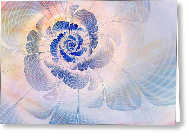 Texture Flower Greeting Cards - Floral Impression Greeting Card by John Edwards