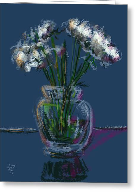 Transparent Mixed Media Greeting Cards - Floral no. 25 Greeting Card by Russell Pierce