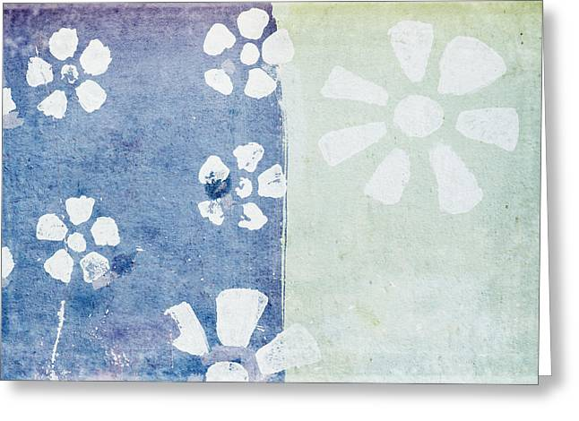 Wall Pastels Greeting Cards - Floral Pattern On Old Grunge Paper Greeting Card by Setsiri Silapasuwanchai