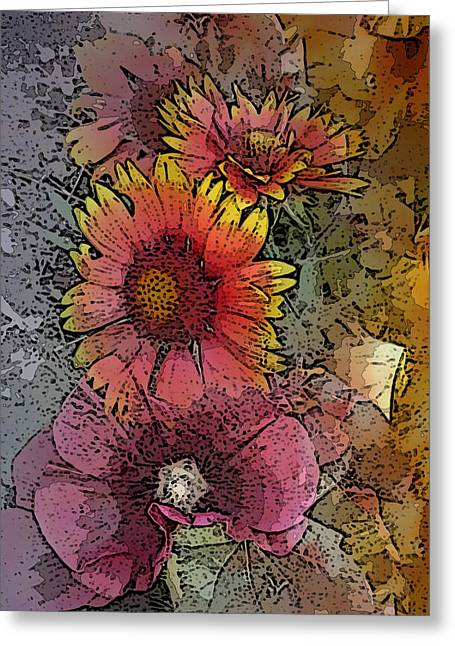 Visionary Artist Greeting Cards - Floral Splash Greeting Card by George  Page