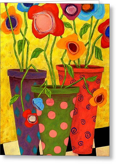 Outsider Greeting Cards - Floralicious Greeting Card by John Blake