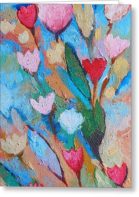 Painted Flowers Greeting Cards - Floramaris Greeting Card by Lutz Baar