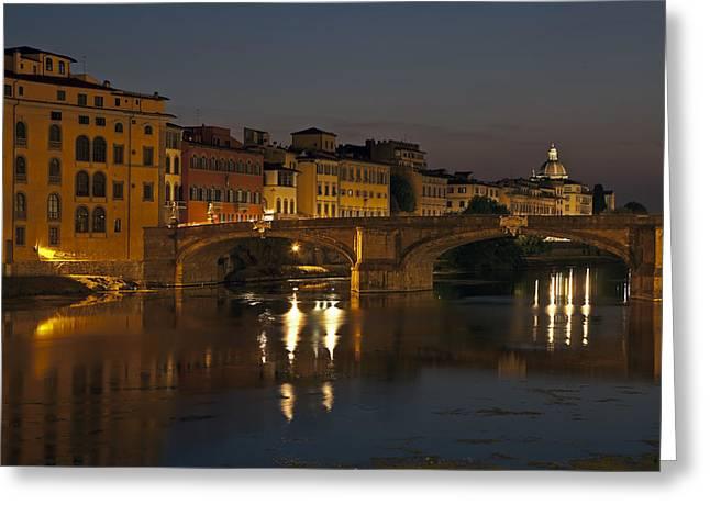 Arno River Greeting Cards - Florence - Ponte San Trinita Greeting Card by Joana Kruse