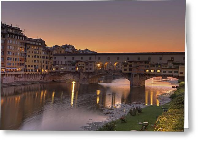 Florence - Ponte Vecchio Greeting Card by Joana Kruse