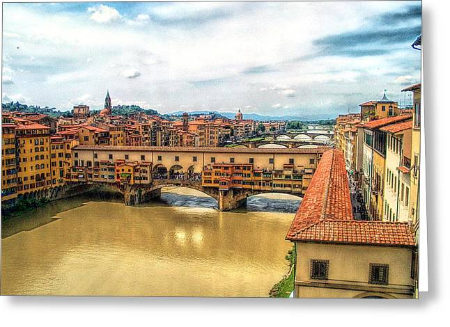 Fierenze Greeting Cards - Florence Bridges II Greeting Card by C H Apperson