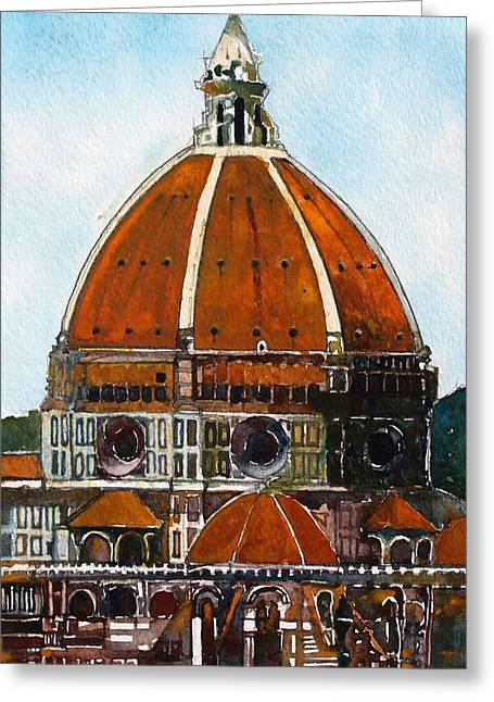 Florence Cathedral Greeting Card by David Carlson