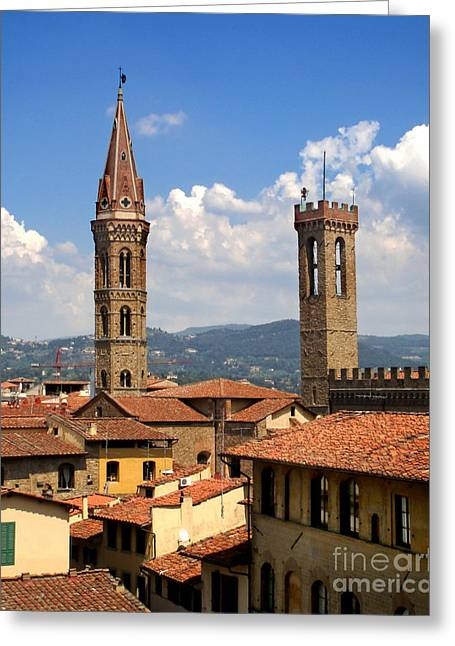 Florence Italy - 03 Greeting Card by Gregory Dyer