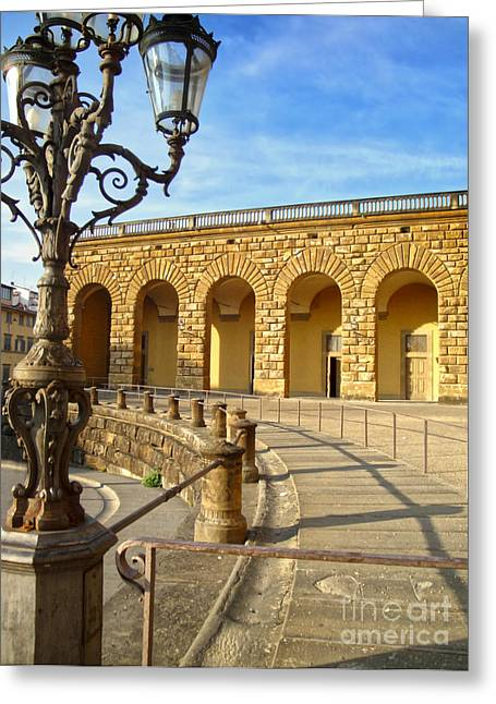 Florence Italy - Pitti Palace - 01 Greeting Card by Gregory Dyer