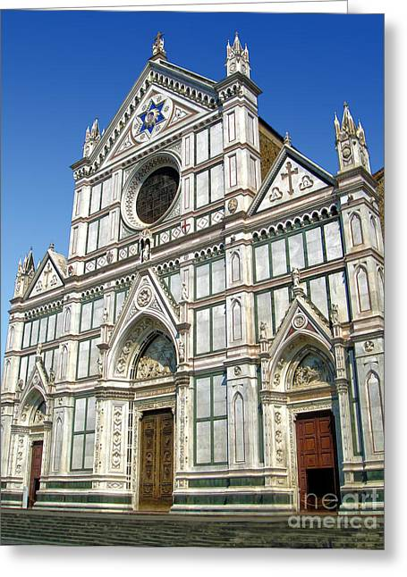 Florence Italy - Santa Croce - 02 Greeting Card by Gregory Dyer