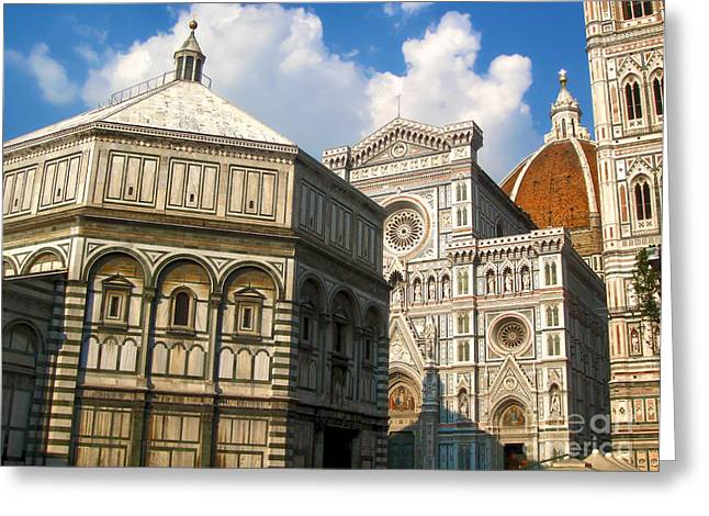 Gregory Dyer Greeting Cards - Florence Italy - Santa Maria del Fiore Greeting Card by Gregory Dyer