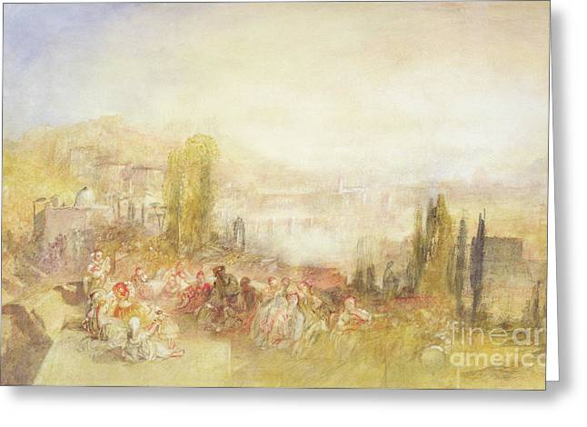 Italian Landscapes Greeting Cards - Florence Greeting Card by Joseph Mallord William Turner
