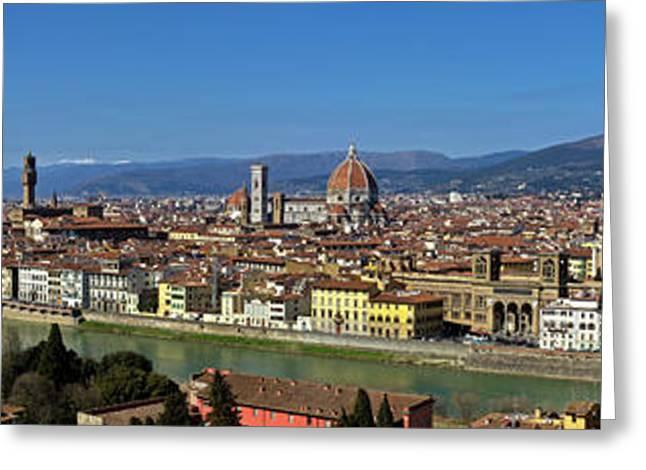 Croce Greeting Cards - Florence Panorama Greeting Card by Kenton Smith
