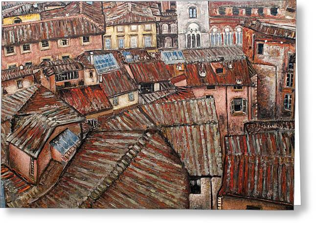 Florence Roofs Greeting Card by Vladimir Kezerashvili