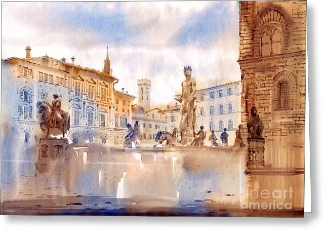 Florence Paintings Greeting Cards - Florence Greeting Card by Svetlana and Sabir Gadghievs