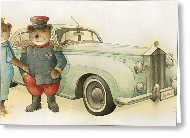 Limousine Greeting Cards - Florentius the Gardener08 Greeting Card by Kestutis Kasparavicius