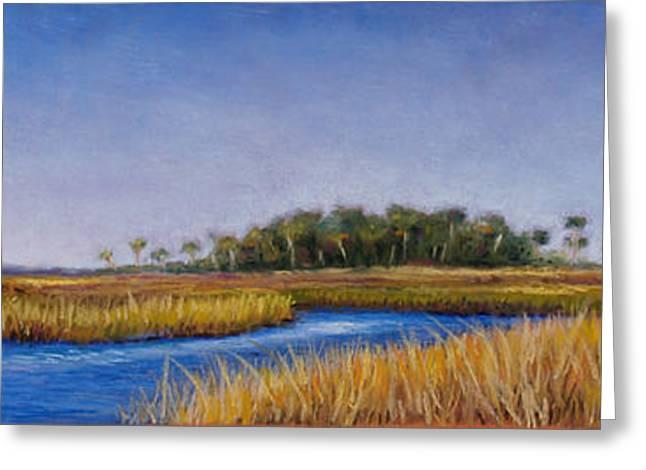 River Pastels Greeting Cards - Florida Marsh in June Greeting Card by Susan Jenkins