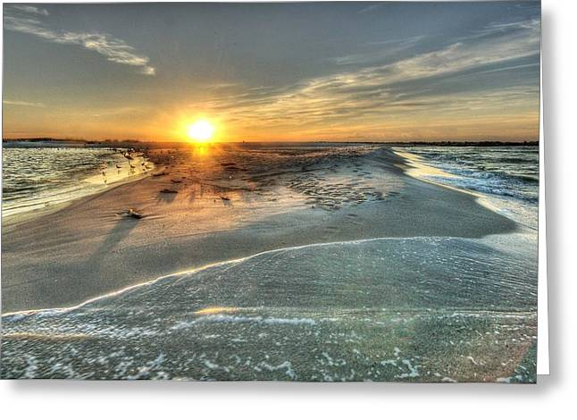 Crimson Tide Greeting Cards - Florida Point Point Greeting Card by Michael Thomas