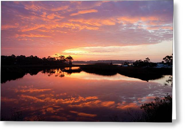Sulf Coast Greeting Cards - Florida Sunrise Greeting Card by Charles Warren