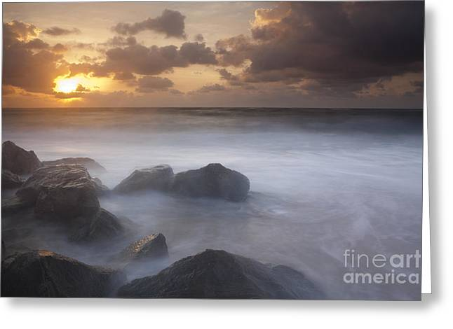Boca Greeting Cards - Florida Sunrise Greeting Card by Keith Kapple