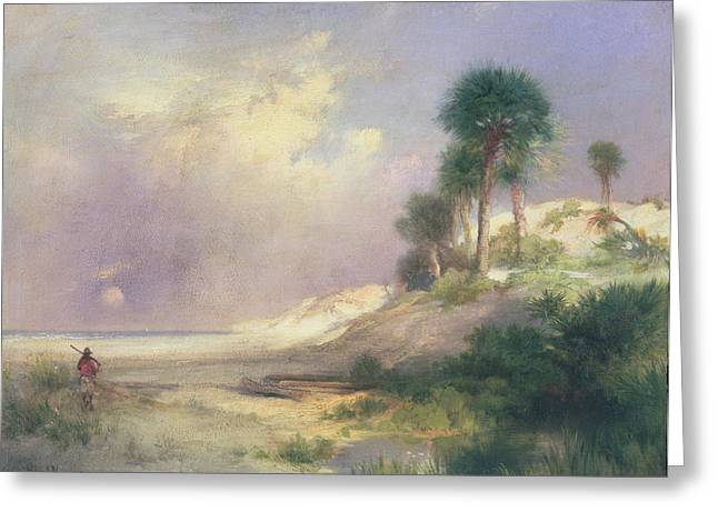 Sand Dunes Paintings Greeting Cards - Florida Greeting Card by Thomas Moran