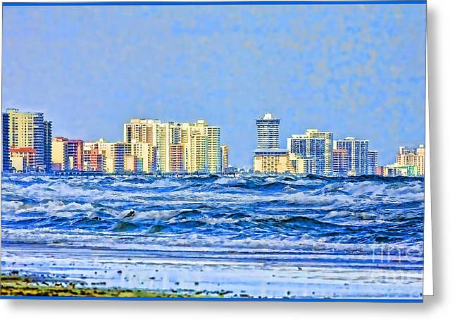 Florida Turbulence Greeting Card by Deborah Benoit