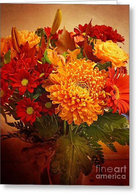 Autumn Flowers Greeting Cards - Floristan Greeting Card by Lutz Baar