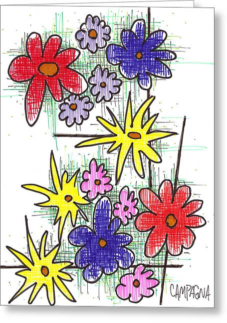 Dozen Greeting Cards - Florists Dozen Greeting Card by Teddy Campagna