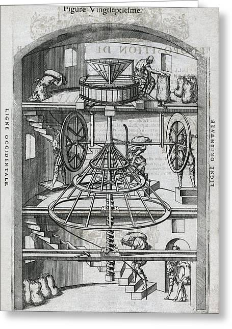 Flour Greeting Cards - Flour Mill, 16th Century Artwork Greeting Card by Middle Temple Library
