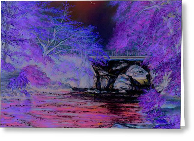 Frame Pastels Greeting Cards - Flow gently Greeting Card by Vanda Luddy