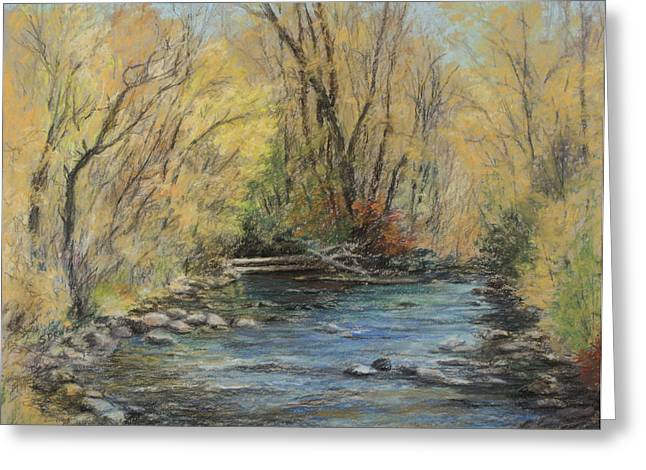 North Fork Pastels Greeting Cards - Flow Greeting Card by Susan Driver