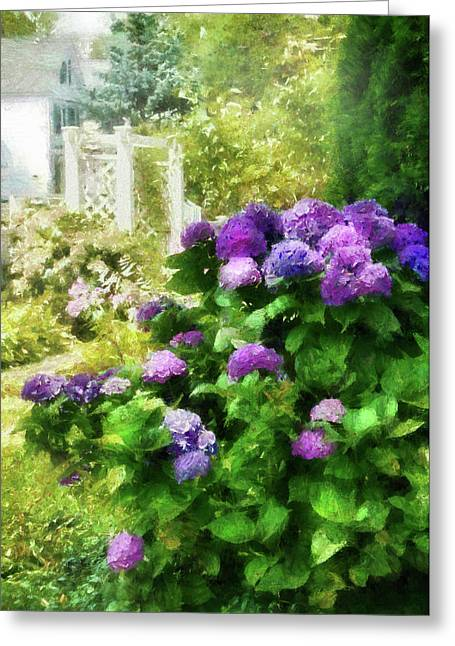 Flowered Greeting Cards - Flower - Hydrangea - Lovely Hydrangea  Greeting Card by Mike Savad