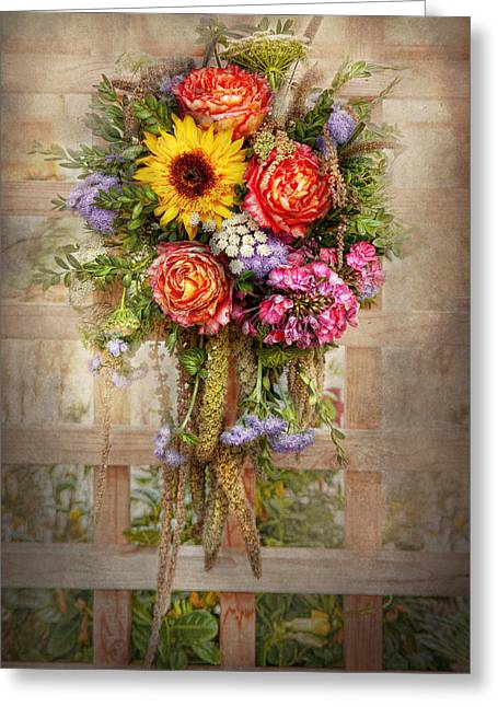 Flower - Summers Blessing  Greeting Card by Mike Savad