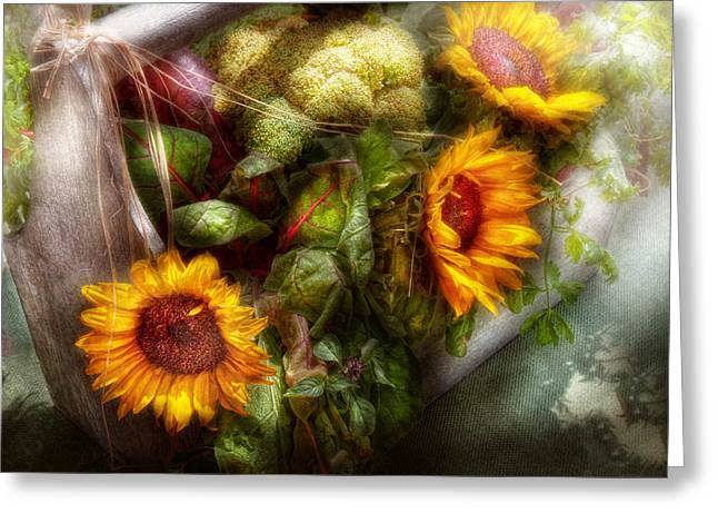Toolbox Greeting Cards - Flower - Sunflower - Gardeners toolbox  Greeting Card by Mike Savad