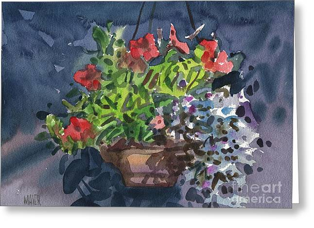 Flower Baskets Greeting Cards - Flower Basket Greeting Card by Donald Maier