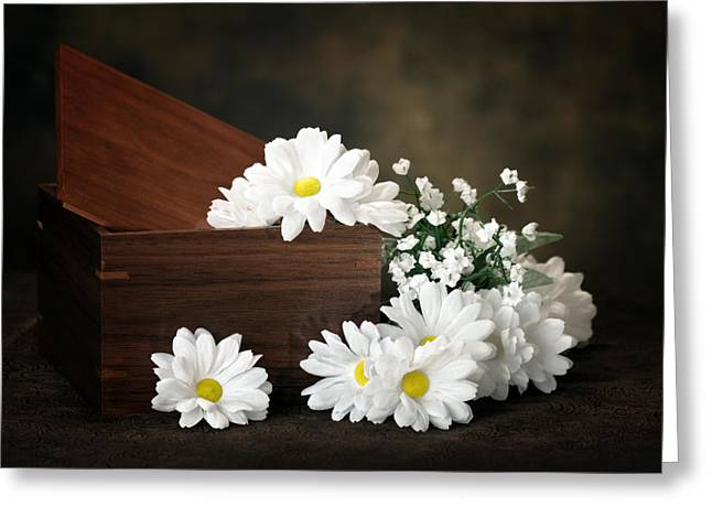 Floral Still Life Greeting Cards - Flower Box Greeting Card by Tom Mc Nemar