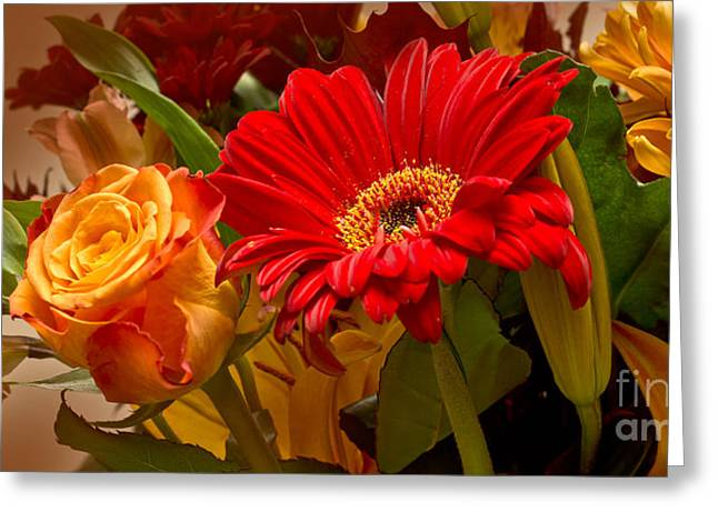 Autumn Flowers Greeting Cards - Flower Greetings Greeting Card by Lutz Baar