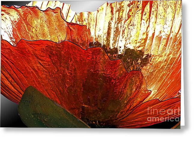 Hightower Greeting Cards - Flower of Glass Greeting Card by Tim Hightower