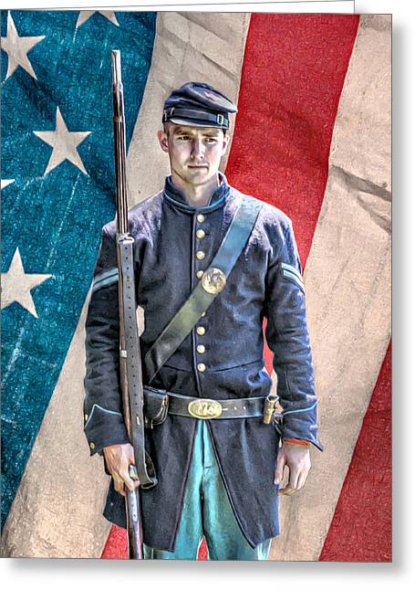 Battle Of Gettysburg Digital Art Greeting Cards - Flower of Our Youth Greeting Card by Randy Steele