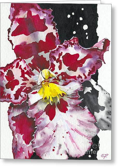 Colorful Orchid Greeting Cards - Flower ORCHID 11 Elena Yakubovich Greeting Card by Elena Yakubovich