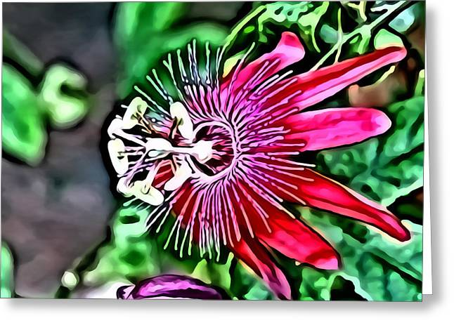 Star Digital Art Greeting Cards - Flower Painting 0001 Greeting Card by Metro DC Photography